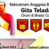 MB Gita Teladan Drum & Brass Corps Open Recruitment 2014