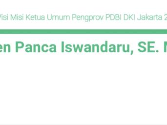 Profil dan Visi Misi Ketua Umum Pengprov PDBI DKI Jakarta 2021-2025